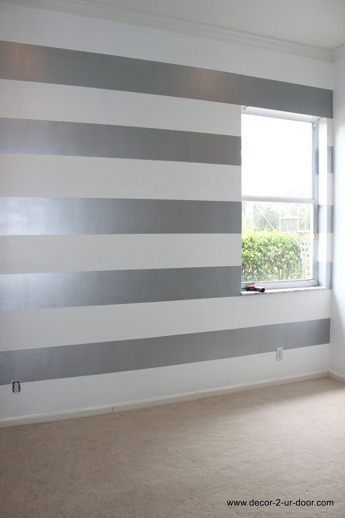 Metallic Striped Accent Wall