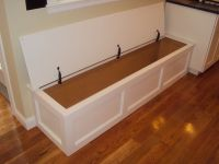 built in kitchen bench seating with storage