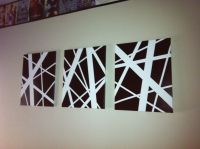 Easy DIY Abstract Art! (3 different sized tape over white ...