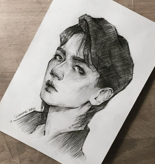 20 Pencil Drawings Kpop Pictures And Ideas On Meta Networks
