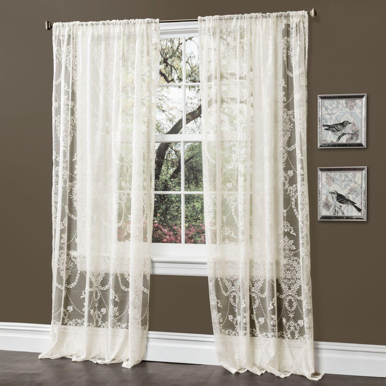 Anya Window Curtain Pair  Soft light Rod pocket and