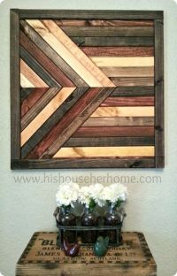 Geometric Stained Wood Wall Dcor {Pottery Barn knock off ...