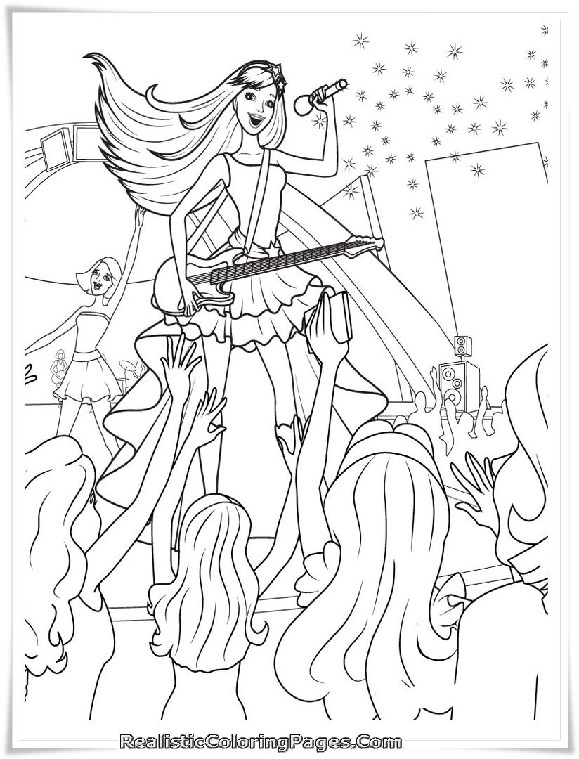 Barbie Coloring Page 116 Barbie World Coloring Pages