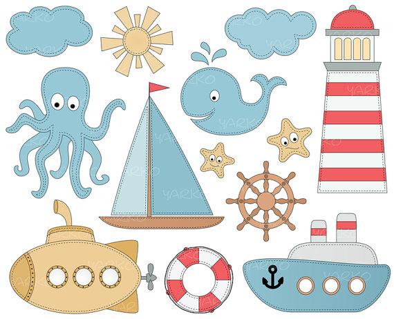 nautische segelboot anchor clipart