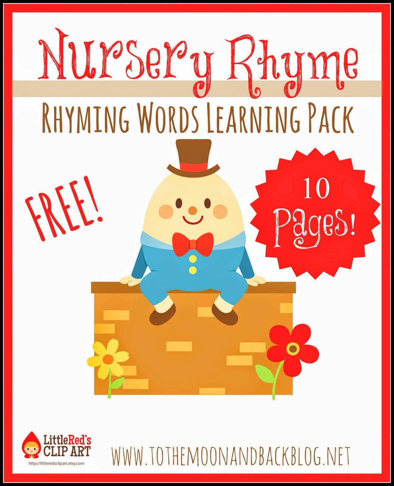 Free Nursery Rhyme Rhyming Words Pack Not Montessori