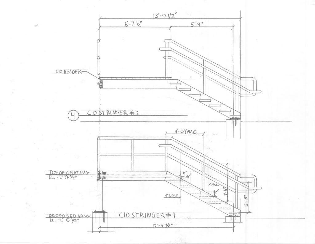 Steel Platform W Stairs