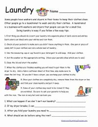 Here is another life skills worksheet. I wish all my ...