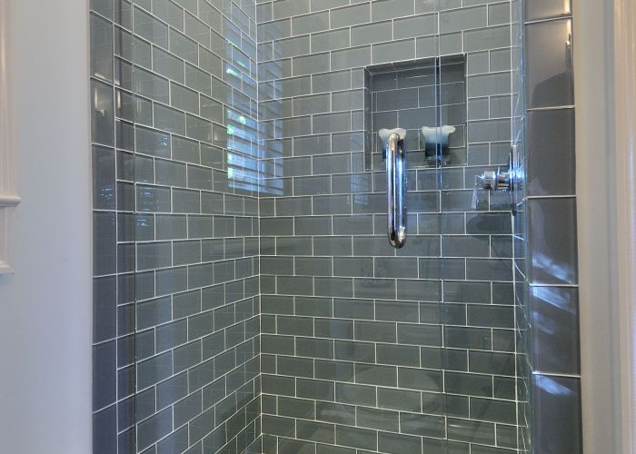 Ice gray glass subway tile also tiles bath and