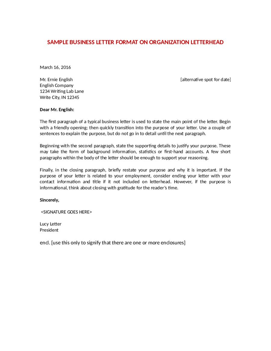 Business Letter Of Complaint