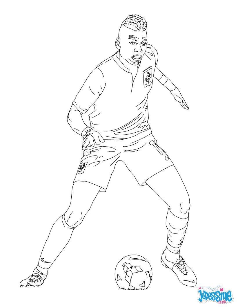 Coloriage Du Joueur De Foot Paul Pogba Imprimer Gratuitement Ou Colorier En Ligne Sur