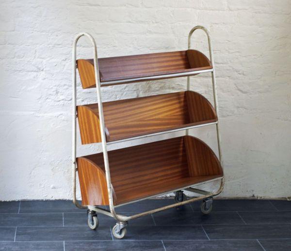 Book Cart Vintage Industrial Library Trolley Bring It