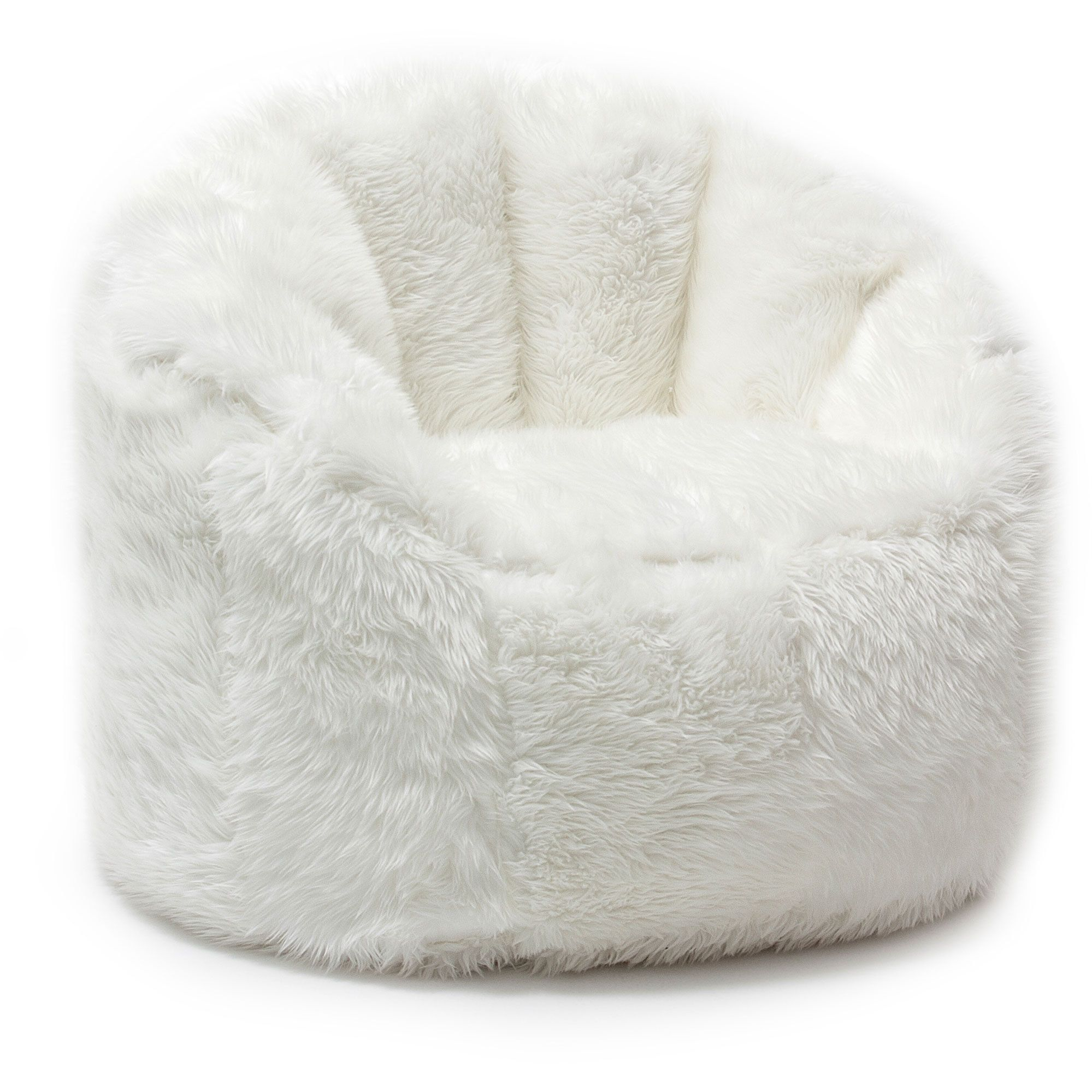 big joe milano bean bag chair resin wicker chairs white comfort research beansack faux fur