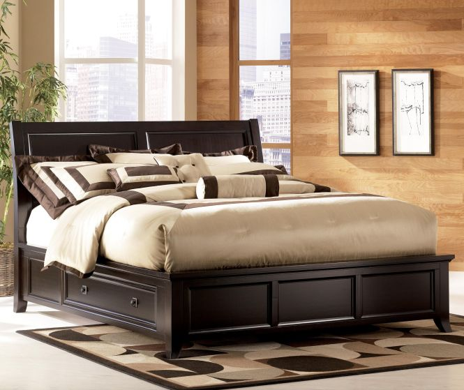Martini Suite Queen Platform Storage Bed Dining Room Table Sets Bedroom Furniture Curio Cabinets And Solid Wood Model Home