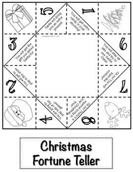 Enjoy this free fortune teller hand game from my Christmas