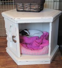 Side table Dog Bed Hide Out. Made with DIY chalk paint ...