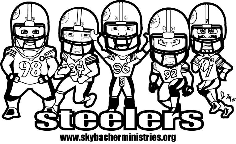 steelers coloring page  gage & sophia's pages  pinterest