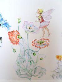 Fairy wall decal - flower wall sticker - girls bedroom ...