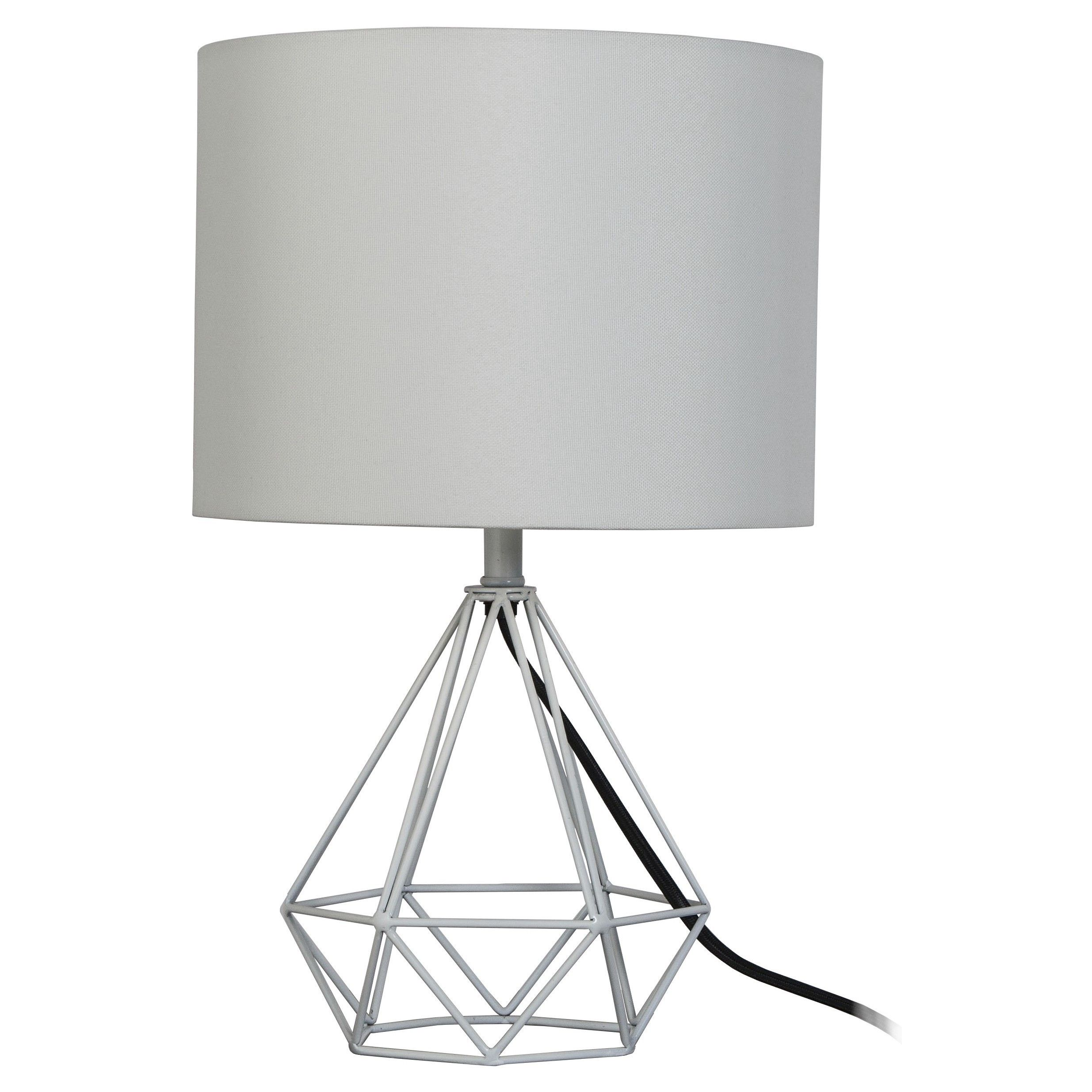 $24.99 at target The Geometric Metal Small Table Lamp from