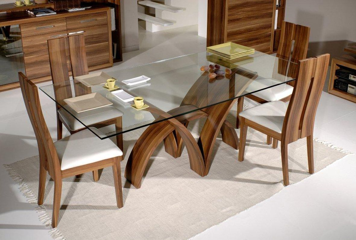 glass kitchen table sets kohler sink accessories modern top dining design surprising