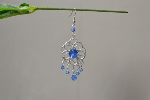How To Make A Pair Of Jump Ring Chandelier Earrings With Beads 3