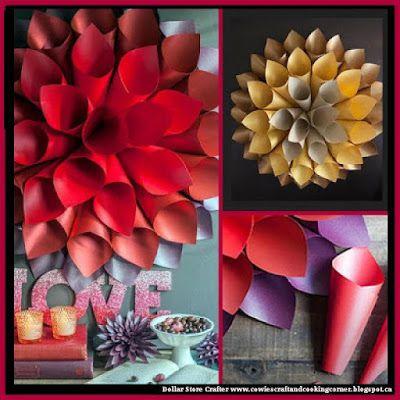 Turn construction paper into beautiful star burst wall art also rh pinterest