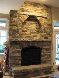 stone fireplace | Cultured Stone Fireplace with Sandstone ...