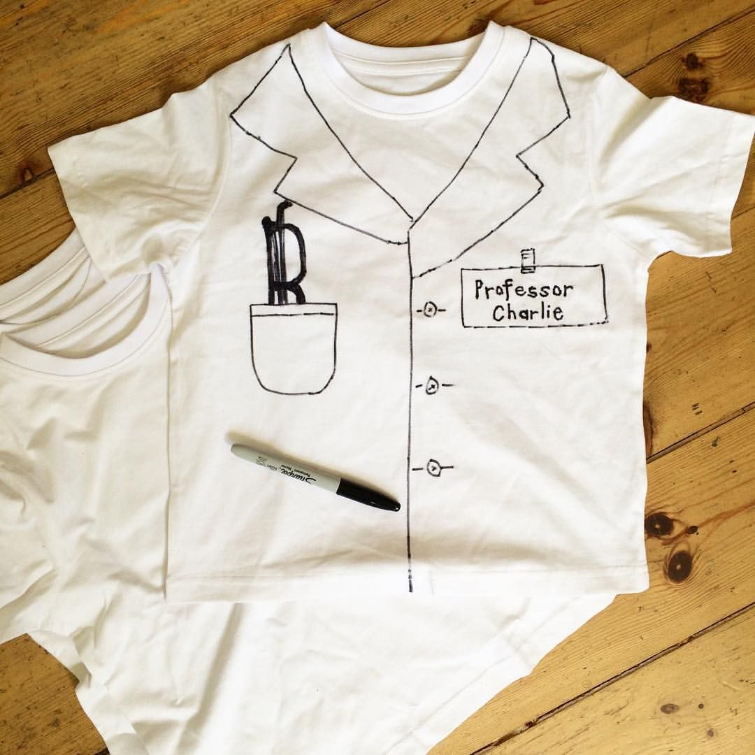 Making T Shirt Lab Coats For Miss 7 S Science Party This