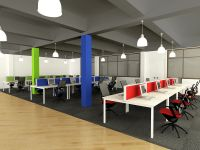 open concept office workstation design | Office Decor ...