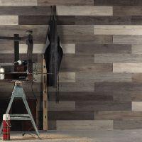 Scrap Wood Look Peel and Stick Wall Planks | Wood paneling ...