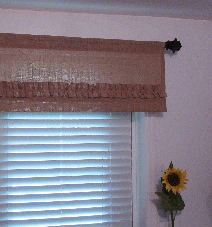 Burlap Window Treatments