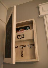 Entryway Orgainzer Chalkboard Mail Sorter Key by ...