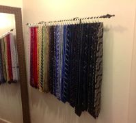 retro martha stewart closet tie rack