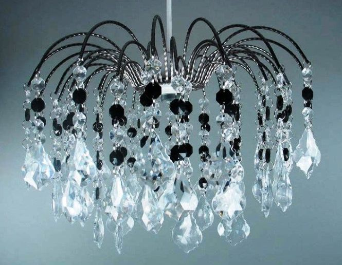 Fountain Drop Pendant Light Clear Black Chandelier Ebay