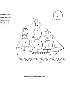 This rhythm worksheet is a great tool for young beginning
