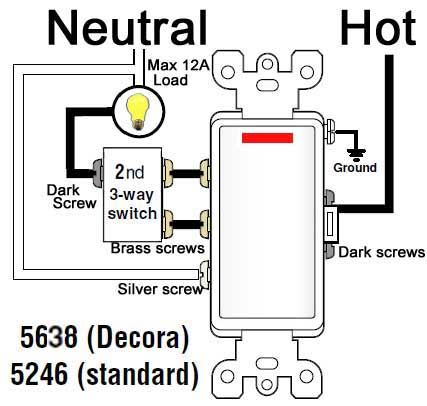 wiring diagram hot to light with Cooper 3 Way Switch Wiring Diagram on How To Add Gfci To A Box With One Outlet Controlled By A Switch also Honda Accord 1996 Honda Accord Engine 2 together with Electrical Diagram For John Deere likewise Smoke Detectors besides Bmw E46 Touring Wiring Diagram.