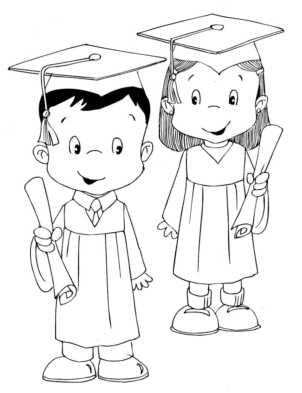 Dibujo De Graduacion Para Colorear