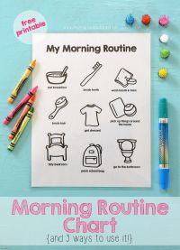 Printable Morning Routine Chart | Mama.Papa.Bubba ...