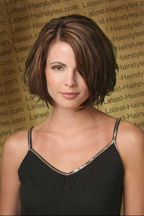 15 Unique Chin Length Layered Bob Bobs Thick Hair And Face Framing