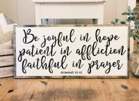 Be joyful in hope wood sign/Home decor/Scripture sign ...
