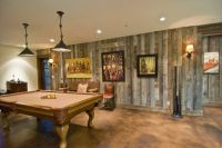 Gray Barnwood Siding in Basement | Home sweet home ...