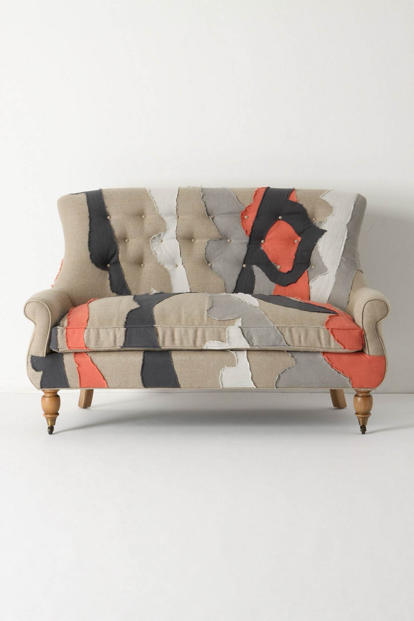 anthropologie sofa coaster contemporary styled futon sleeper astrid settee patchwork wishlist