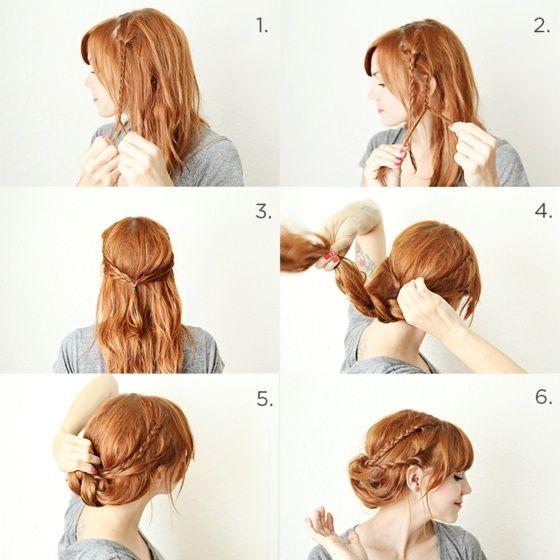 Hochgesteckte Haare Mit Zöpfen Trauzeugin Pinterest
