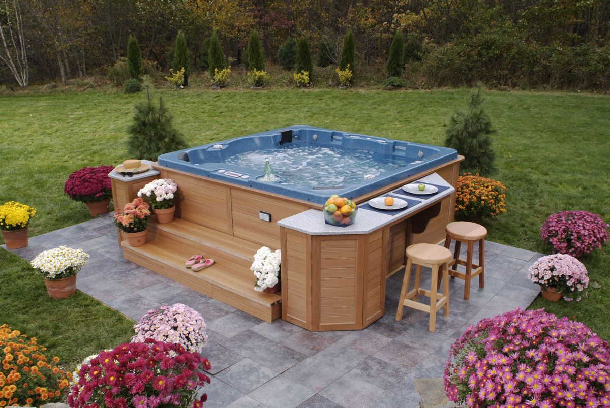 Ideal Surface Under Inflatable Portable Hot Tub Although It Can Be