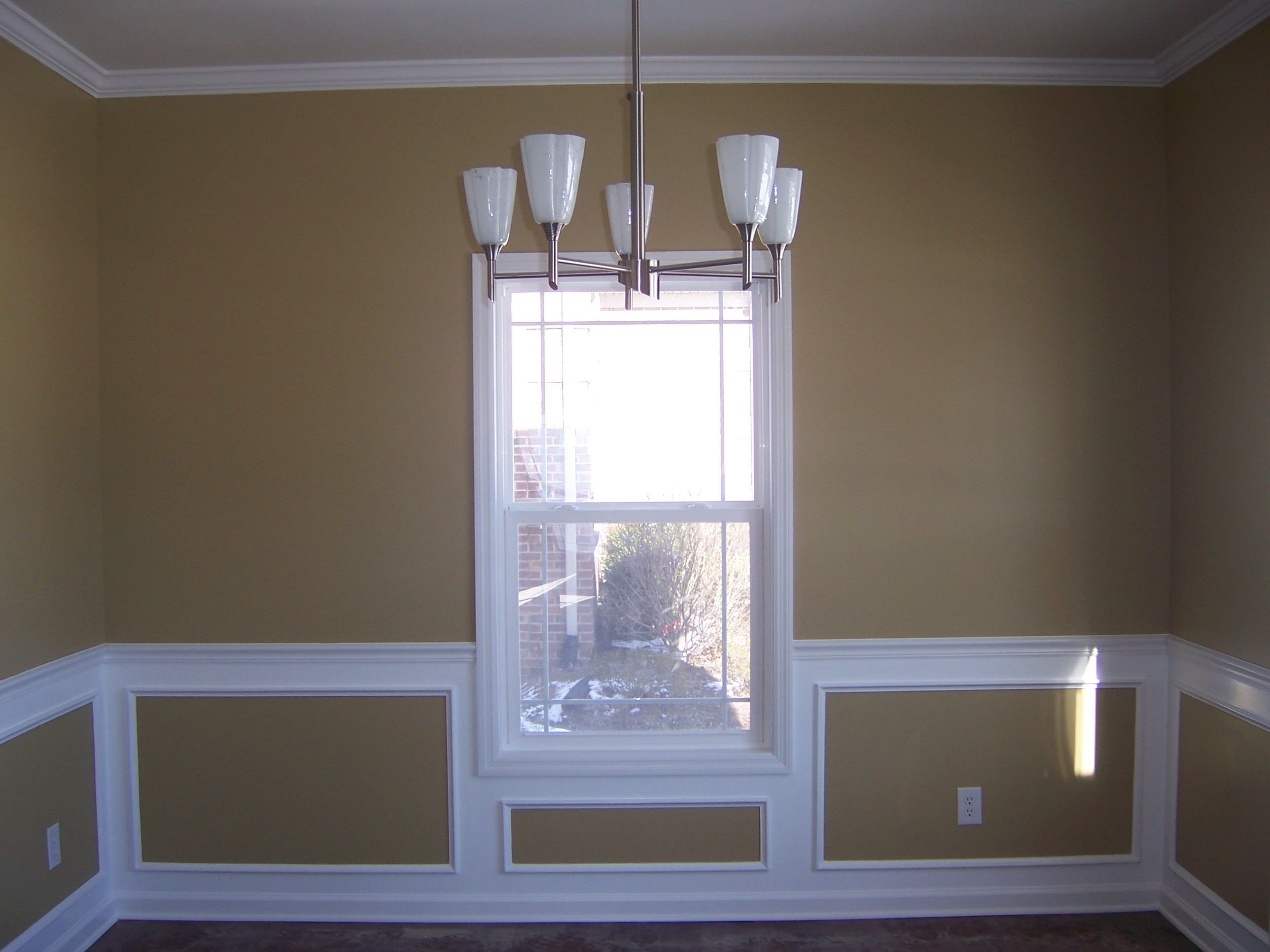 Two Tone Walls With Chair Rail Ideas For Dining Room Chair Rail Molding Nest Ideas