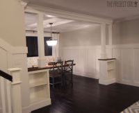craftsman style room divider columns added to DIY living ...