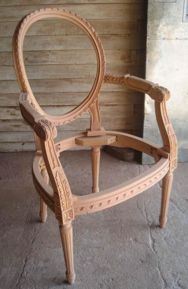 Unfinished classic furniture wooden frame chair unfinished