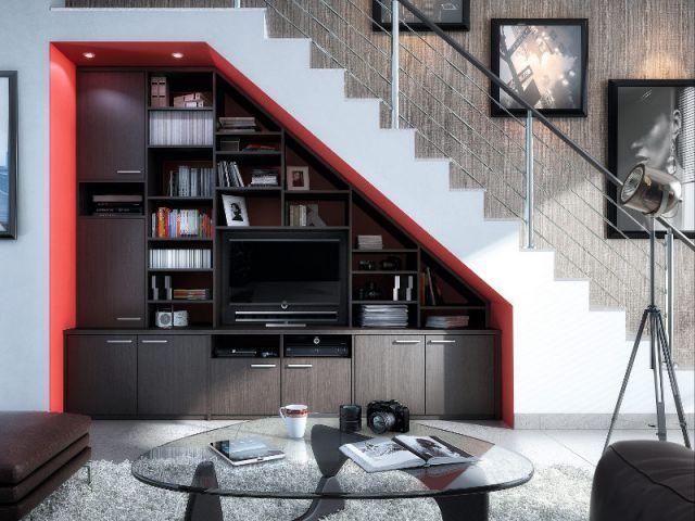 Dix ides pour optimiser lespace sous un escalier  Meubles de salon Escaliers et Sous escalier