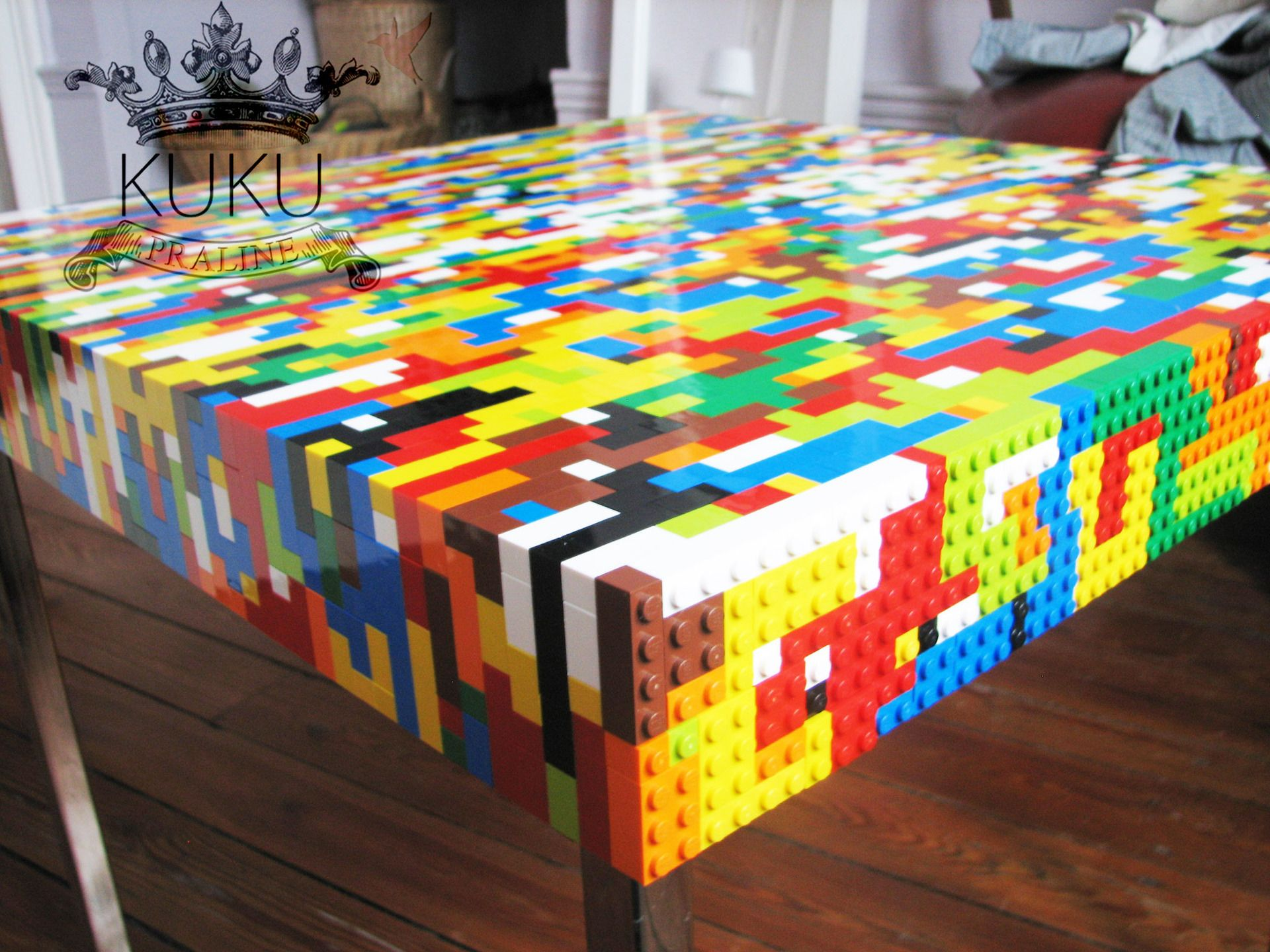 Table basse LEGO de salon ou dappoint  Bedroom Inspiration  Pinterest  Lego Tables and