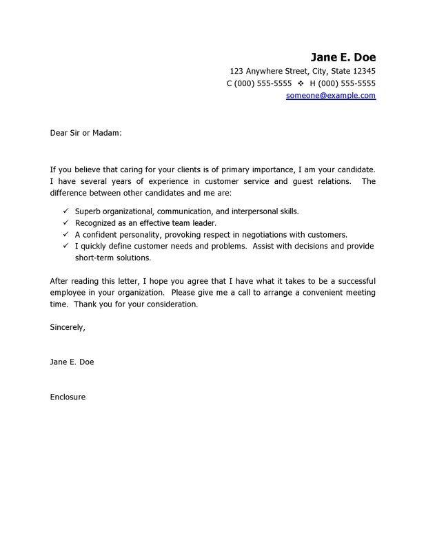 Customer Service Cover Letter Template Cover Letter Rachel's