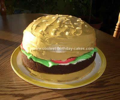 Cool DIY Hamburger Cake Design 10 Homemade And Vanilla